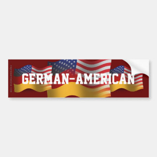 German-American Waving Flag Bumper Sticker
