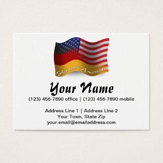 German-American Waving Flag Business Card