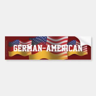 German-American Waving Flag Car Bumper Sticker