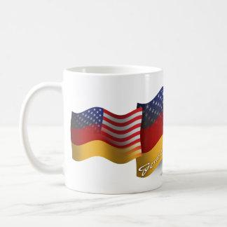 German-American Waving Flag Coffee Mug
