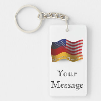 German-American Waving Flag Keychain