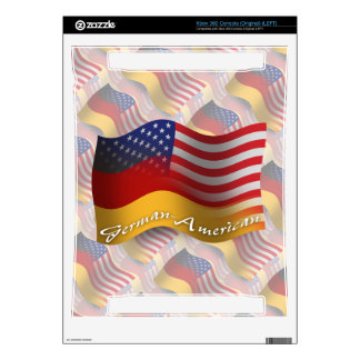 German-American Waving Flag Decals For The Xbox 360
