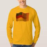 German-American Waving Flag Tee Shirt