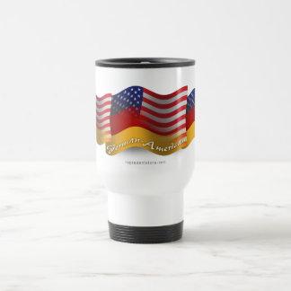German-American Waving Flag Travel Mug