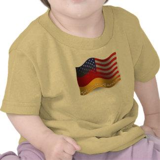 German-American Waving Flag T Shirt