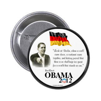 German-Americans for OBAMA 2012 political pinback  Button