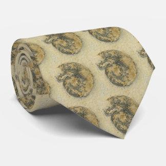 German Ammonite with Dendrites Tie