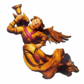 German Angel with Bell - Ornament Sculpture