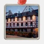 German architecture christmas ornament