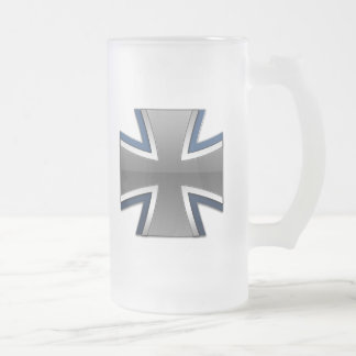 German Armed Forces Frosted Glass Beer Mug