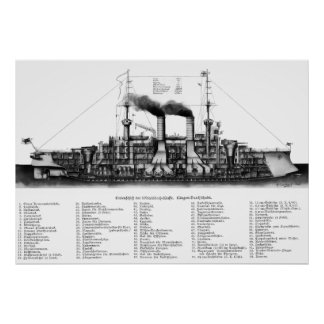 German Armored Cruiser Poster