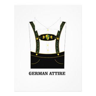 German attire letterhead