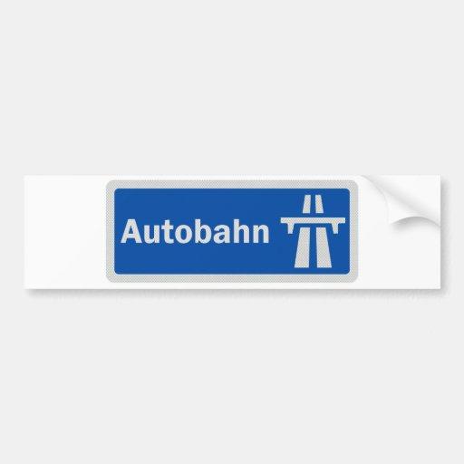 German Autobahn highway sign bumper sticker Car Bumper StickerAutobahn Sign