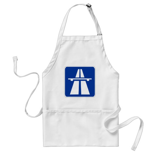 German Autobahn Sign Adult Apron