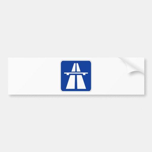 German Autobahn Sign Bumper StickersAutobahn Sign