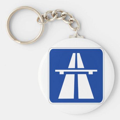 German Autobahn Sign Key ChainsAutobahn Sign