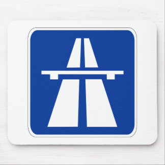 German Autobahn Sign Mouse Pad