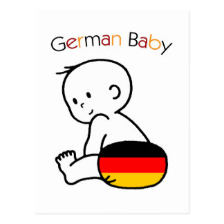 German Baby Postcard