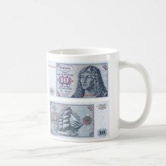 German Banknote 10 Marks Coffee Mug