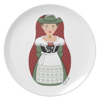 German Bavarian Matryoshka Plate