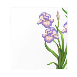 German Bearded Irises Floral Notepad