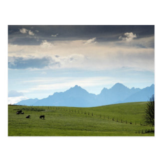 German Beautiful Sky With Mountains Post Card