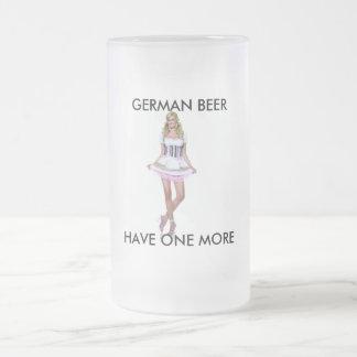 GERMAN BEER FROSTED GLASS BEER MUG