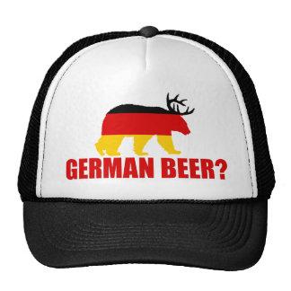 German Beer?  Germany Flag Bear With Antlers Hat