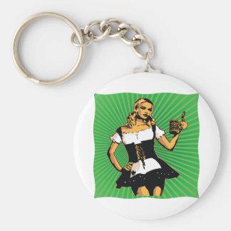 German Beer Girl Keychain