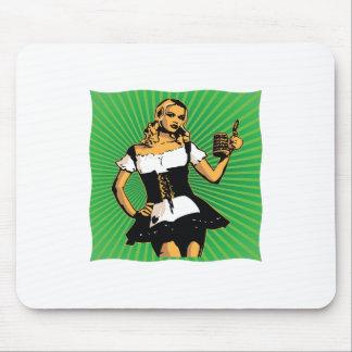 German Beer Girl Mouse Pad