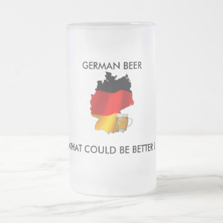 GERMAN BEER, WHAT COULD BE BETTER FROSTED GLASS BEER MUG