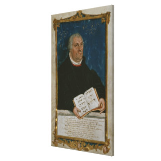 German Bible of Luther's Translation, 1561 Canvas Print