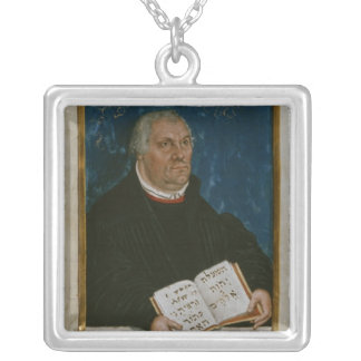 German Bible of Luther's Translation, 1561 Silver Plated Necklace