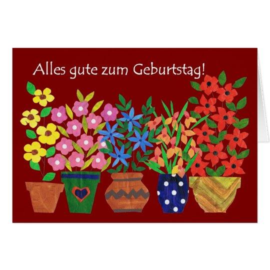 German Birthday Card Flower Power – Birthday Card in German