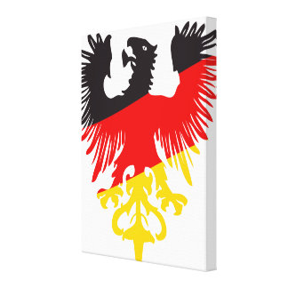 German Black Eagle Canvas Print