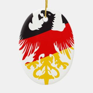 German Black Eagle Ceramic Ornament