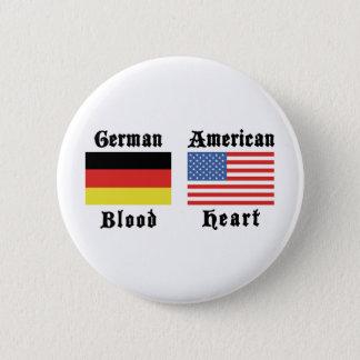 German Blood American Heart Button