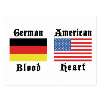 German Blood American Heart Gift Postcard