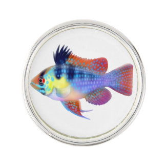 German Blue Ram Cichlid Fish Lapel Pin