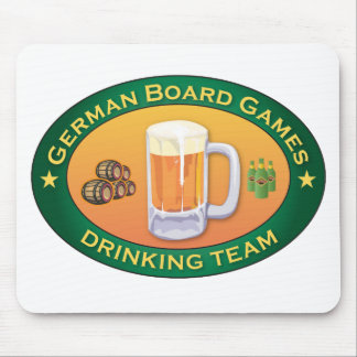 German Board Games Drinking Team Mouse Pad