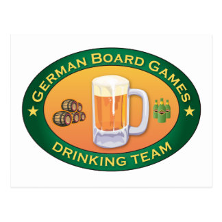 German Board Games Drinking Team Postcards