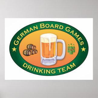 German Board Games Drinking Team Posters