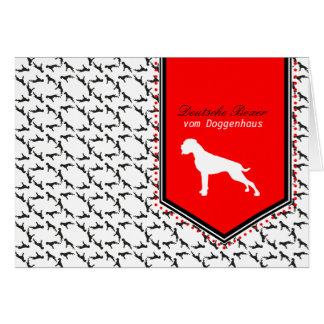 German Boxer Dog Cards