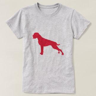 German Boxer Dog Center Modern T-Shirt