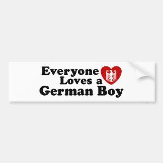 German Boy Car Bumper Sticker