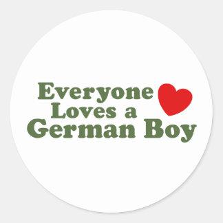 German Boy Classic Round Sticker