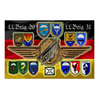 German brigada Airborne 26 31 and Póster