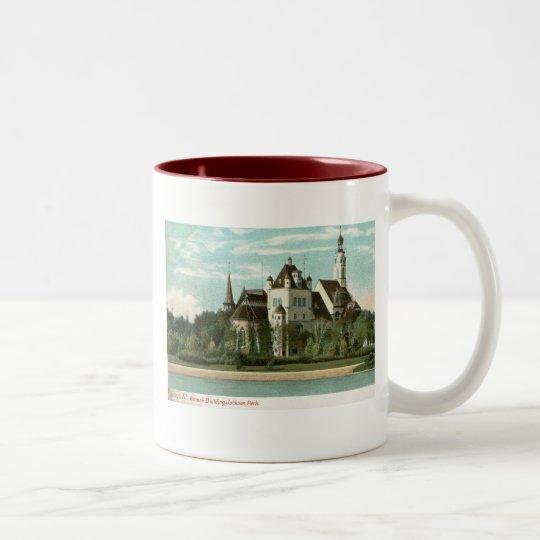 German Building, Jackson Park, Chicago Vintage Two-Tone Coffee Mug