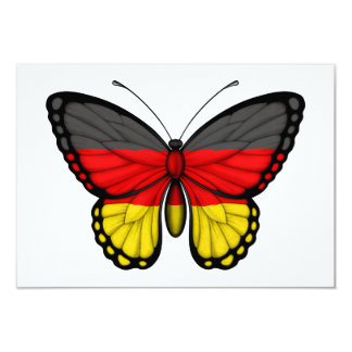 German Butterfly Flag Invitations