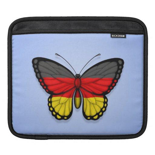 German Butterfly Flag on Blue iPad Sleeves